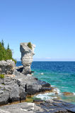 Big Flowerpot on the Bruce Peninsula stock photography