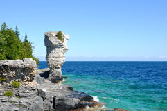 Big Flowerpot on the Bruce Peninsula Stock Photo