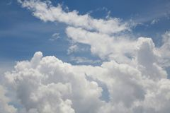 Clouds. Big, fluffy, billowy cumulus clouds gather in the Florida skies Royalty Free Stock Photography