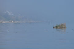 Big fog on Lake Ontario, taken in rochester Royalty Free Stock Images