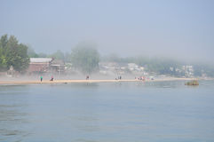 Big fog on Lake Ontario, taken in rochester Royalty Free Stock Image