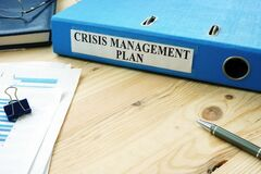Free Big Folder With Label Crisis Management Plan. Royalty Free Stock Photos - 181651808