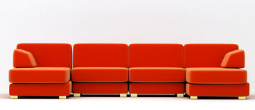 Big folding sofa Stock Photos