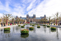 Big font in front of  Rijksmuseum Royalty Free Stock Photos
