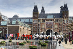 Big font in front of Rijksmuseum royalty free stock photography