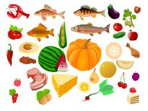 Big food collection Royalty Free Stock Photos