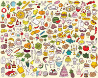 Big Food and Kitchen Collection vector illustration
