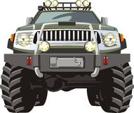 Big foot. Hign off road car frontal view Stock Photography
