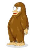 Big Foot. Cartoon illustration of a hairy creature Royalty Free Stock Photo
