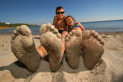 Big foot Royalty Free Stock Image