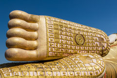 Big foot of buddha statue Royalty Free Stock Images