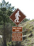 Big Foot Crossing Sign Stock Photos