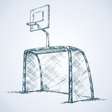 Big football and basketball goal. Vector drawing Royalty Free Stock Photos