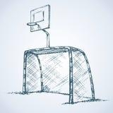 Big football and basketball goal. Vector drawing Royalty Free Stock Photography