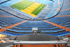 Big football stadium with grandstand Royalty Free Stock Images