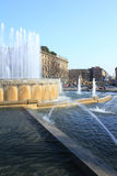 Big fountain in Milan Stock Images