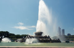 Big fountain in Millennium Park, Chicago Downtown stock photography