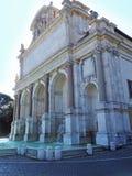The Big Fountain, Rome, Italy. The grand Fontana dell'Acqua Paola in Rome, Italy Royalty Free Stock Photo