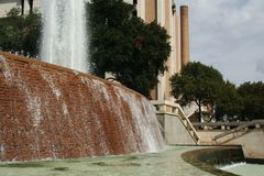 Big Fountain Water Splash. Big fountain water somewhere in university of austin area Royalty Free Stock Photography