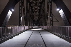 Big Four Bridge. Louisville Kentucky, recently converted Railway Bridge into a Pedestrian / Cycling Bridge Stock Image