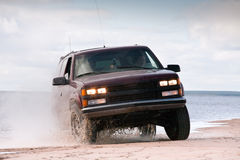 Big four-wheel car Stock Images