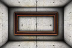 Big frame on concrete wall Stock Photography