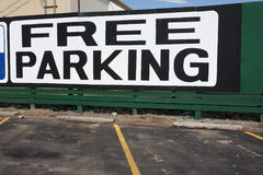 Big Free Parking sign stock image
