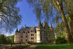 Big french castle in brittany Stock Photos