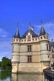 Big french castle with his fluke Royalty Free Stock Photography
