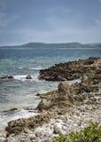 BIG FRENCH KEY BEACH ROATAN, HONDURAS royalty free stock photos