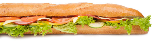 Big french sandwich Royalty Free Stock Photo