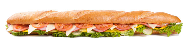 Big french sandwich stock photo