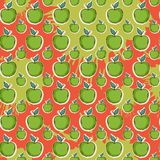Big fresh apple pattern Stock Images