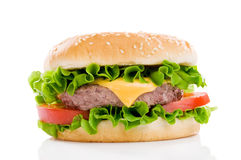 Big fresh hamburger Royalty Free Stock Photo