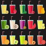 Big fresh juice collection Royalty Free Stock Image