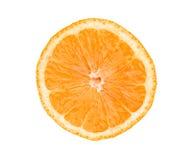 Big fresh juicy orange slice isolated on white Royalty Free Stock Photography