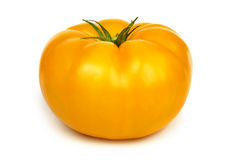 Big fresh yellow tomato. Stock Photo