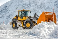 Big front loader in Solden, Austria Stock Photography
