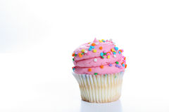 Big frosting cupcake Stock Photography