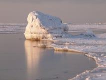 Big frozen rock Stock Images