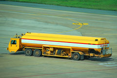 Big fuel truck at the airport Royalty Free Stock Photography