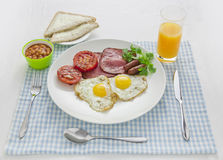Big and full breakfast Stock Photography