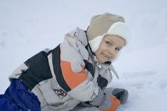 Big fun on snow stock photos