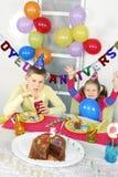 Big funny birthday party Stock Photo