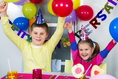 Big funny birthday party Royalty Free Stock Images