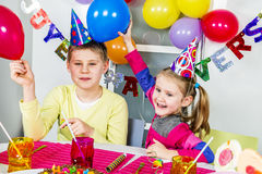 Big funny birthday party Royalty Free Stock Photo