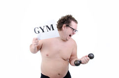 Big funny guy Stock Photography