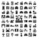 Big furniture icons set Royalty Free Stock Photos