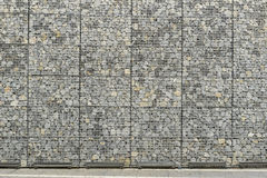 Big Gabion Wall Royalty Free Stock Images