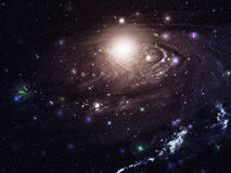 Big galaxy. In the starry space Stock Images